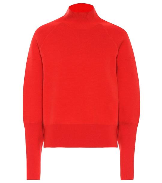 Acne Studios Turtleneck wool-blend sweater in red