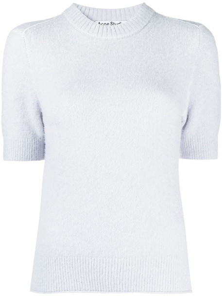 Acne Studios short-sleeve knitted top in blue