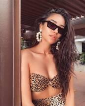 swimwear,leopard print,leopard bikini,bikini,bikini top,bikini bottoms,animal print,instagram,celebrity,shay mitchell
