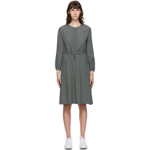 A.P.C. A.P.C. Green Isabella Mid-Length Dress