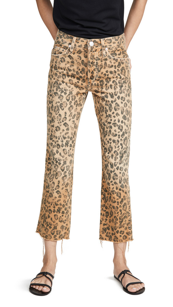 AMO Loverboy Relaxed Straight Jeans in leopard