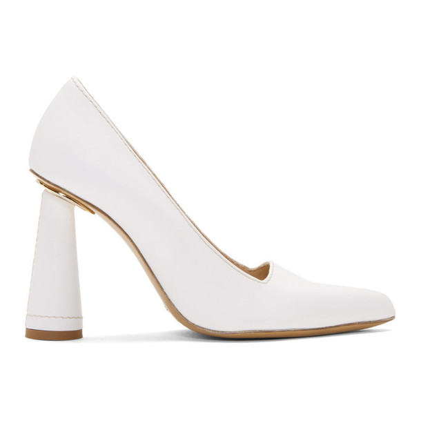 Jacquemus White Les Chaussures Leon Heels