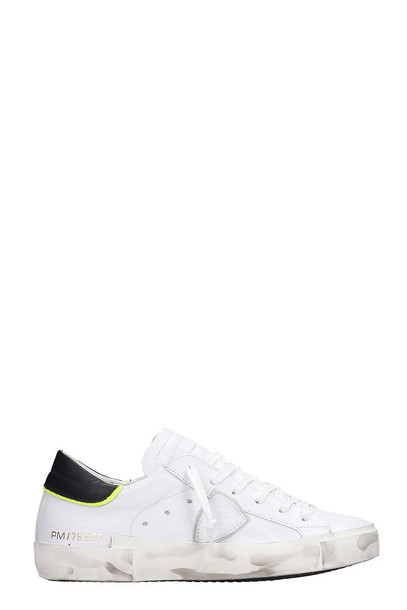 Philippe Model Prsx Sneakers In White Leather