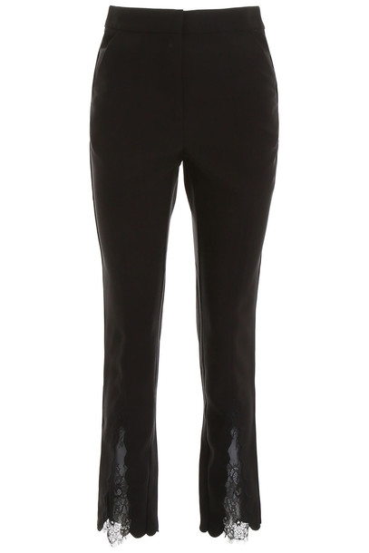 self-portrait Trousers With Lace Inserts in black