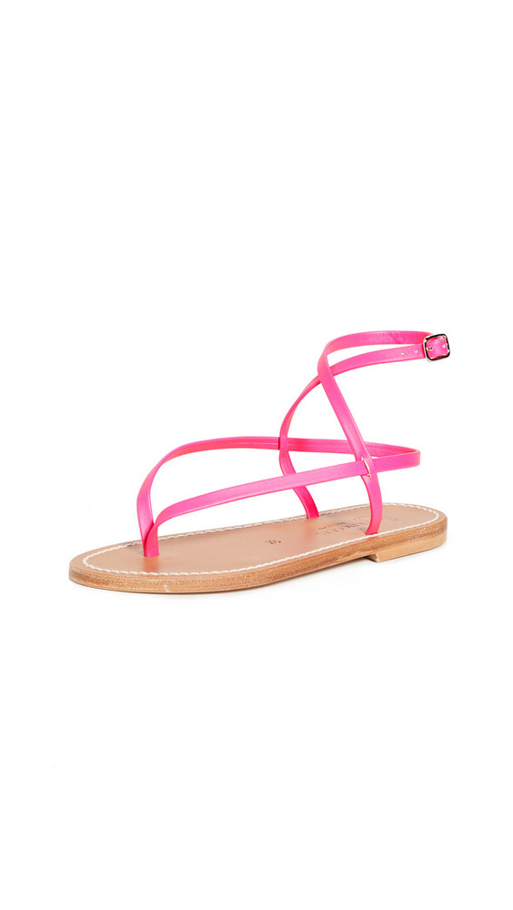 K. Jacques Delta Thong Sandals in rose