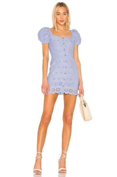 MAJORELLE Johnny Mini Dress in blue