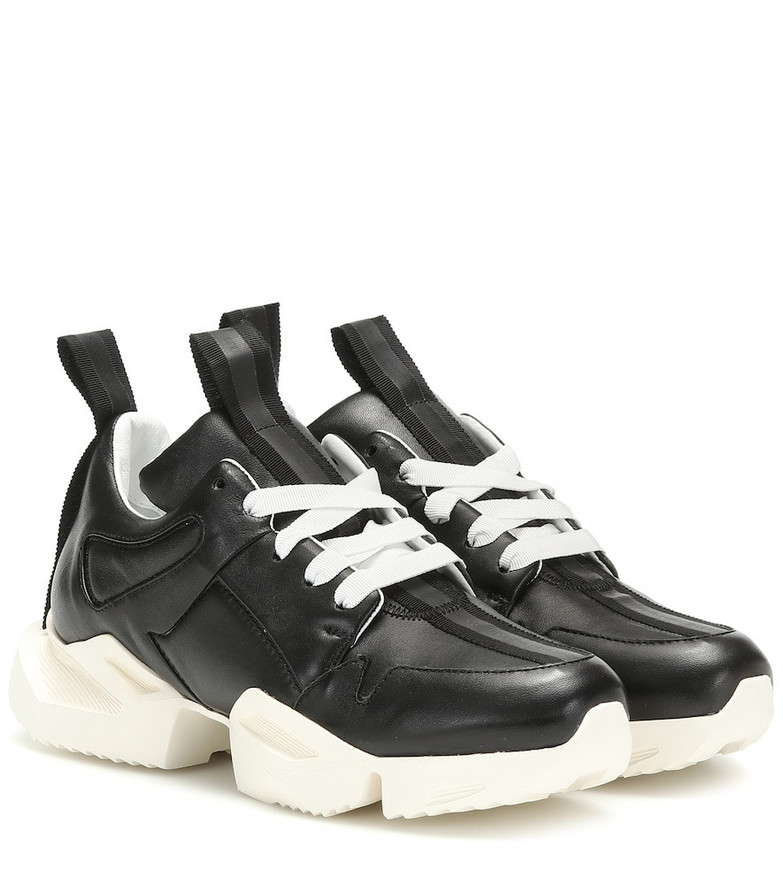 Unravel Leather sneakers in black