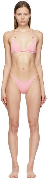 Louisa Ballou SSENSE Exclusive Pink Mini Ring Triangle Bikini