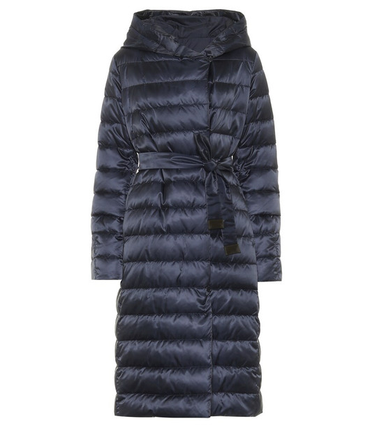 Max Mara Novelu reversible quilted coat in blue