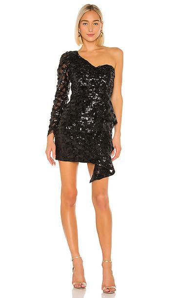 IORANE lORANE One Shoulder Mini Dress in Black