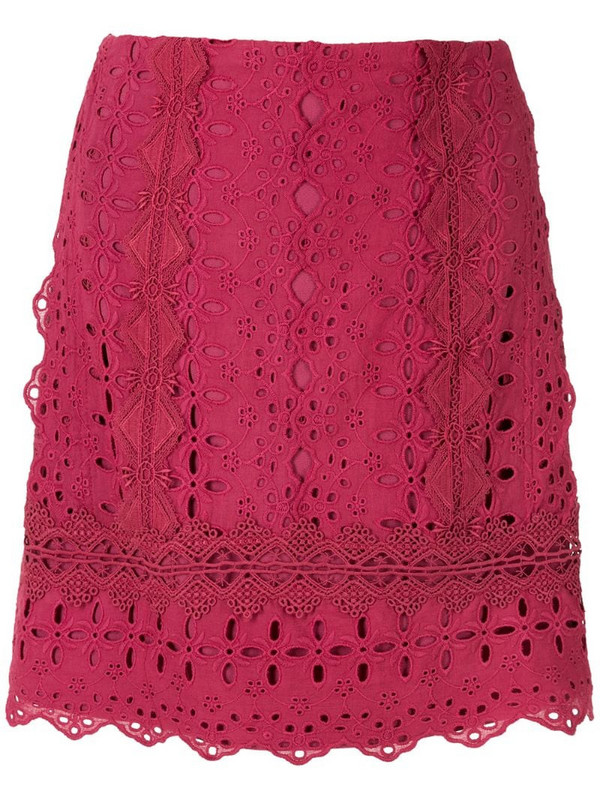 Martha Medeiros Paloma mini skirt in red