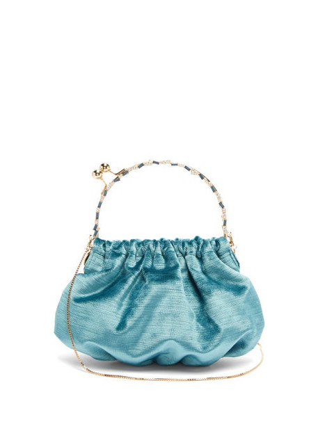 Rosantica By Michela Panero - Versailles Crystal Embellished Velvet Clutch - Womens - Blue