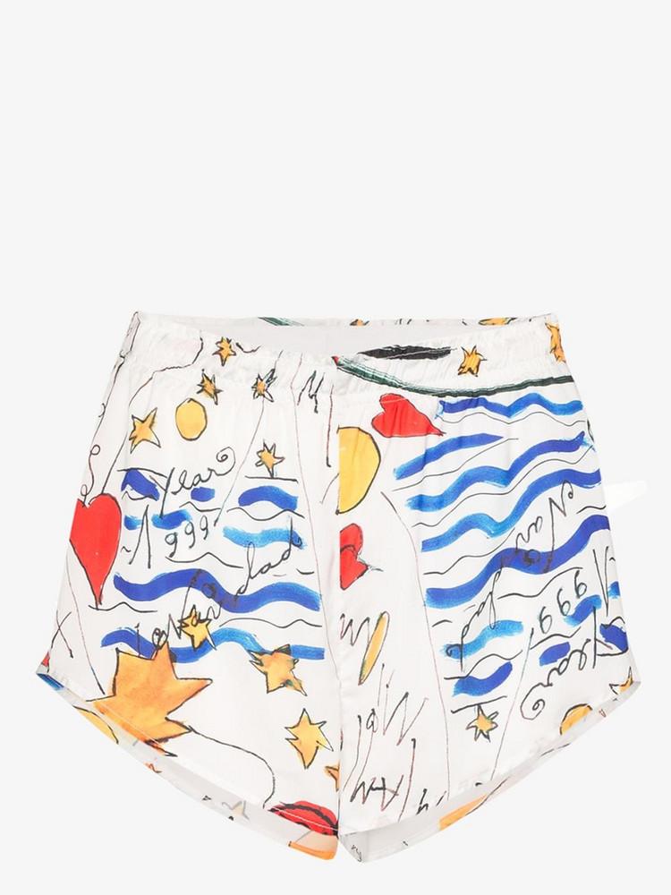 Esteban Cortazar printed cotton shorts in white