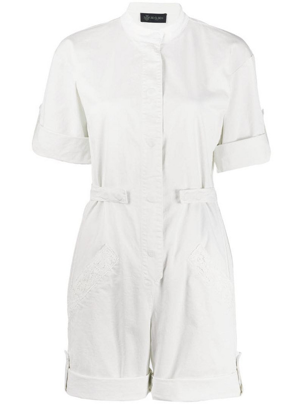 Mr & Mrs Italy workwear playsuit in white