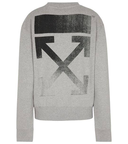 Off-White Arrows cotton sweatshirt in grey