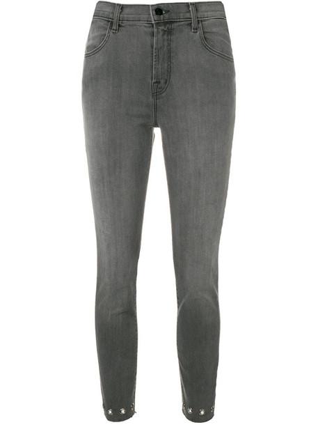 J Brand Alana cropped jeans in grey