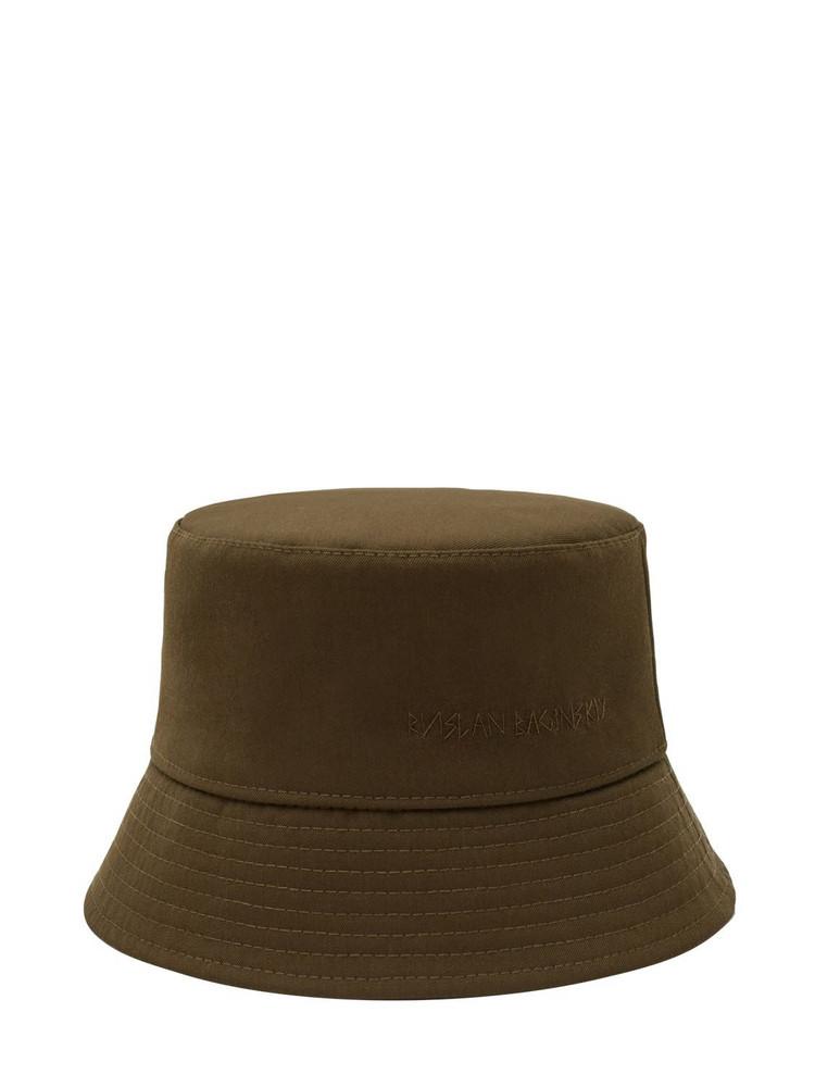 RUSLAN BAGINSKIY Wool Blend Lampshade Bucket Hat in khaki