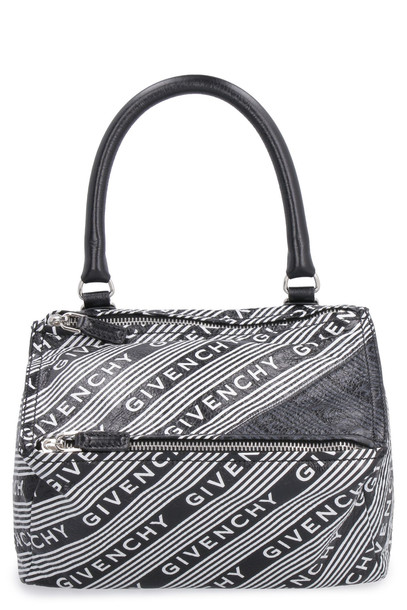 Givenchy Pandora Printed Leather Bag in black