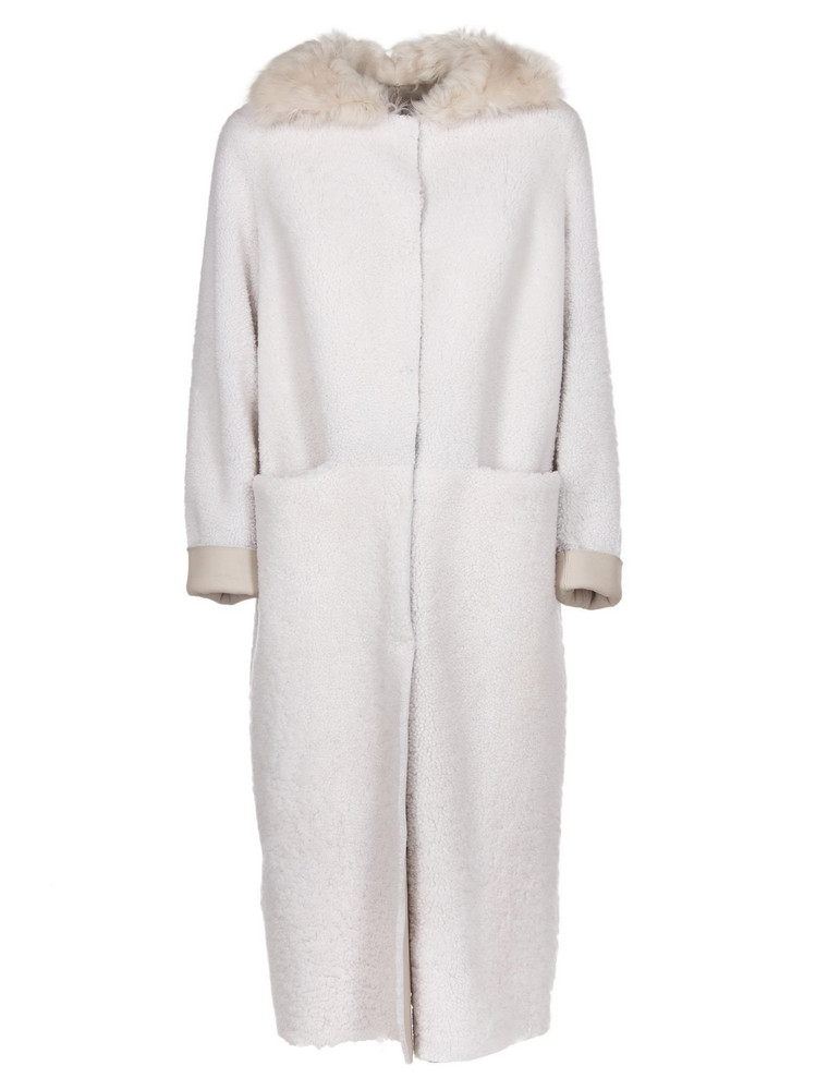 Salvatore Santoro Fur Coat in white