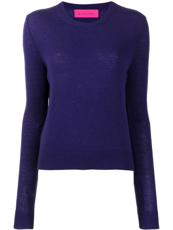 The Elder Statesman fine knit jumper in purple