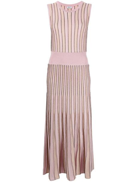 LIU JO striped knit maxi dress in pink