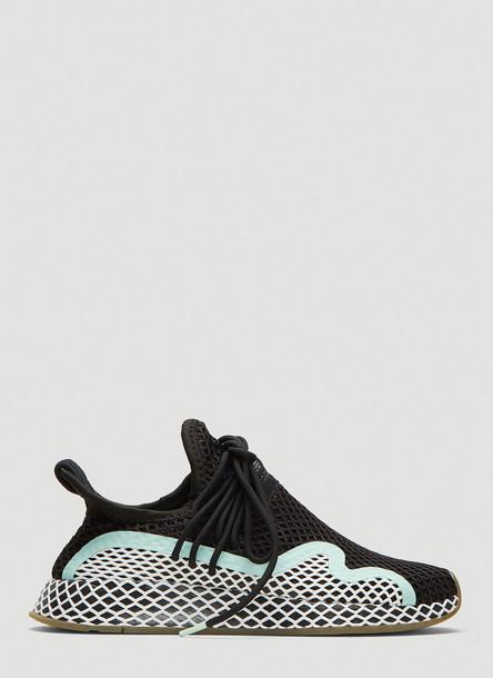 Adidas Deerupt S W Runner Shoes in Black size UK - 04