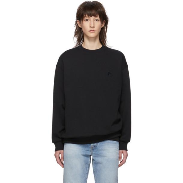 Acne Studios Black Oversized Forba Face Sweatshirt