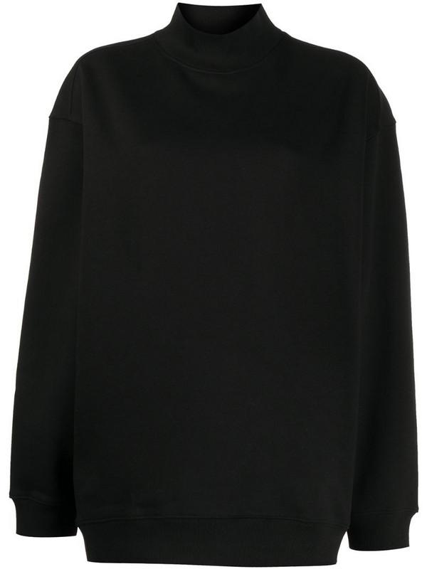Filippa K Soft Sport oversized mock-neck sweatshirt in black