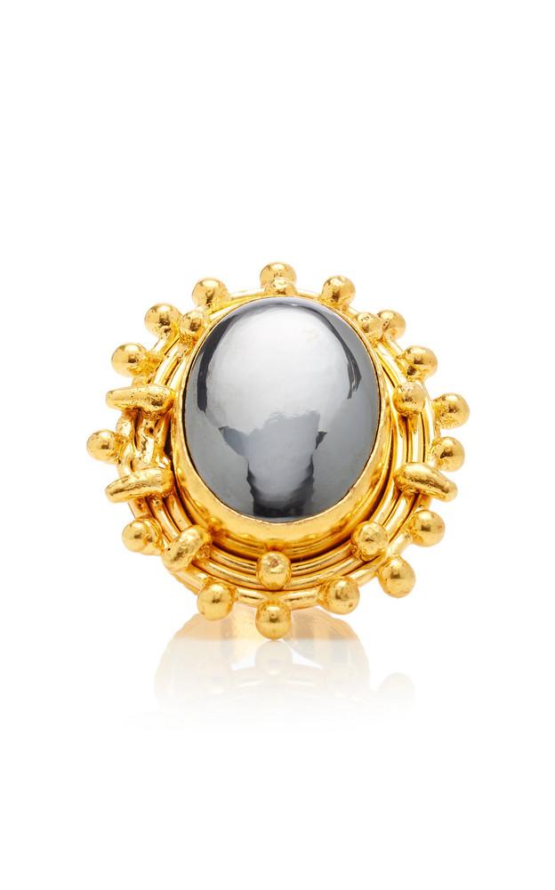Sylvia Toledano Stonedots Hematite Ring in grey