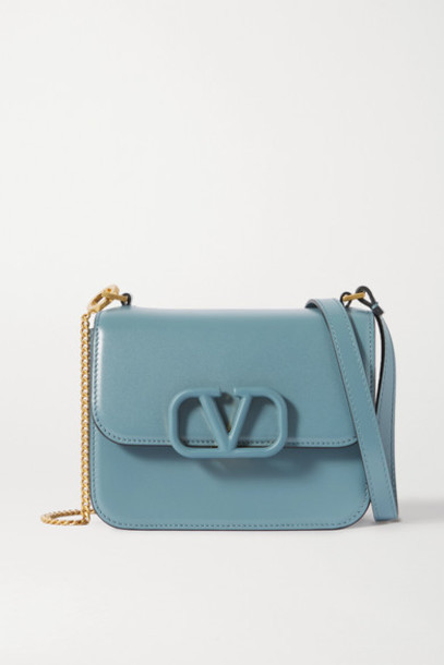 Valentino - Valentino Garavani Vsling Small Leather Shoulder Bag - Blue