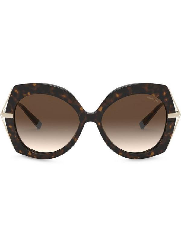 Tiffany & Co Eyewear Butterfly oversized-frame sunglasses in brown