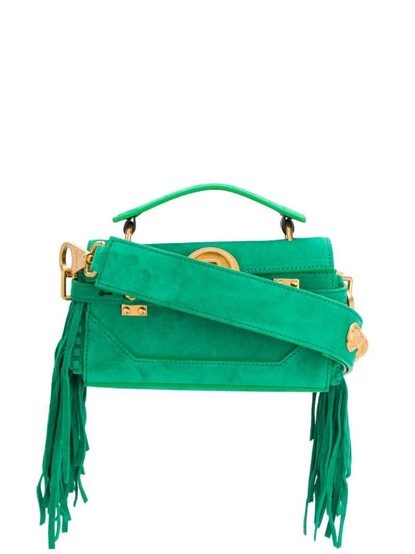 Balmain B-Buzz 19 Baguette bag in green