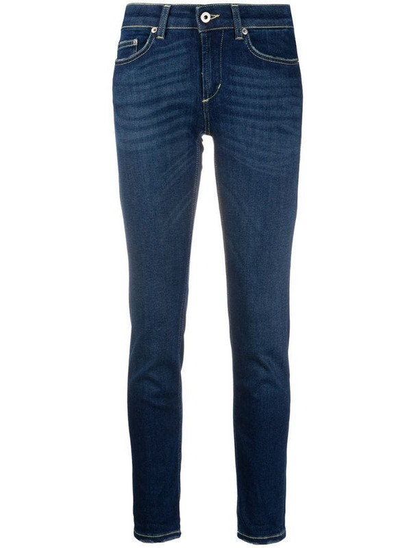 Dondup mid-rise skinny jeans in blue