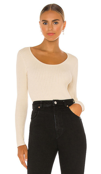 ROLLA'S Classic Rib Sweater in Ivory in natural