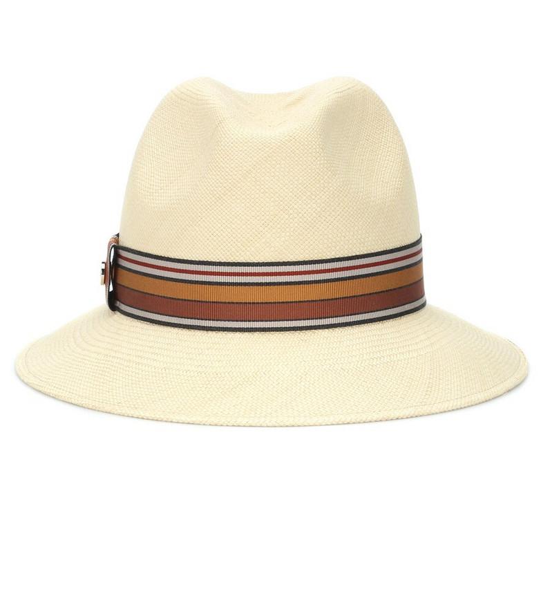 Loro Piana The Suitcase Stripe straw fedora in beige