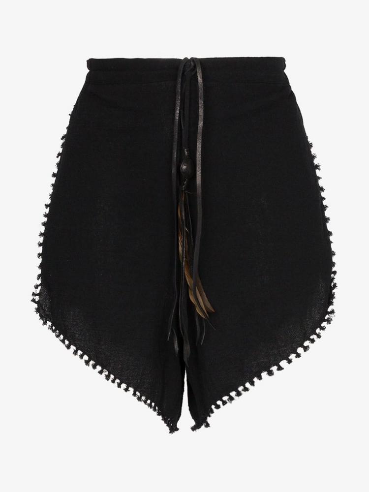 Caravana Tizimin drawstring shorts in black