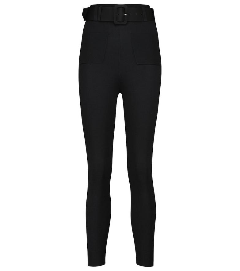 Self-Portrait High-rise slim sweatpants in black