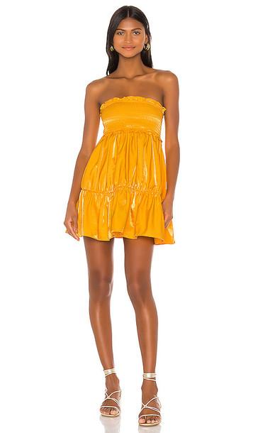 Lovers + Friends Lovers + Friends Radcliffe Mini Dress in Yellow