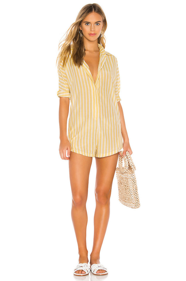 Acacia Swimwear Kapaa Romper in yellow