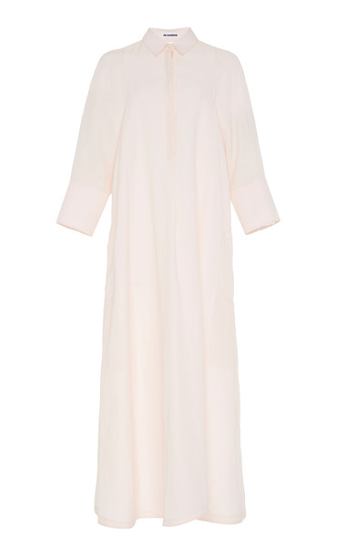 Jil Sander Galalite Midi Shirt Dress Size: 38 in pink