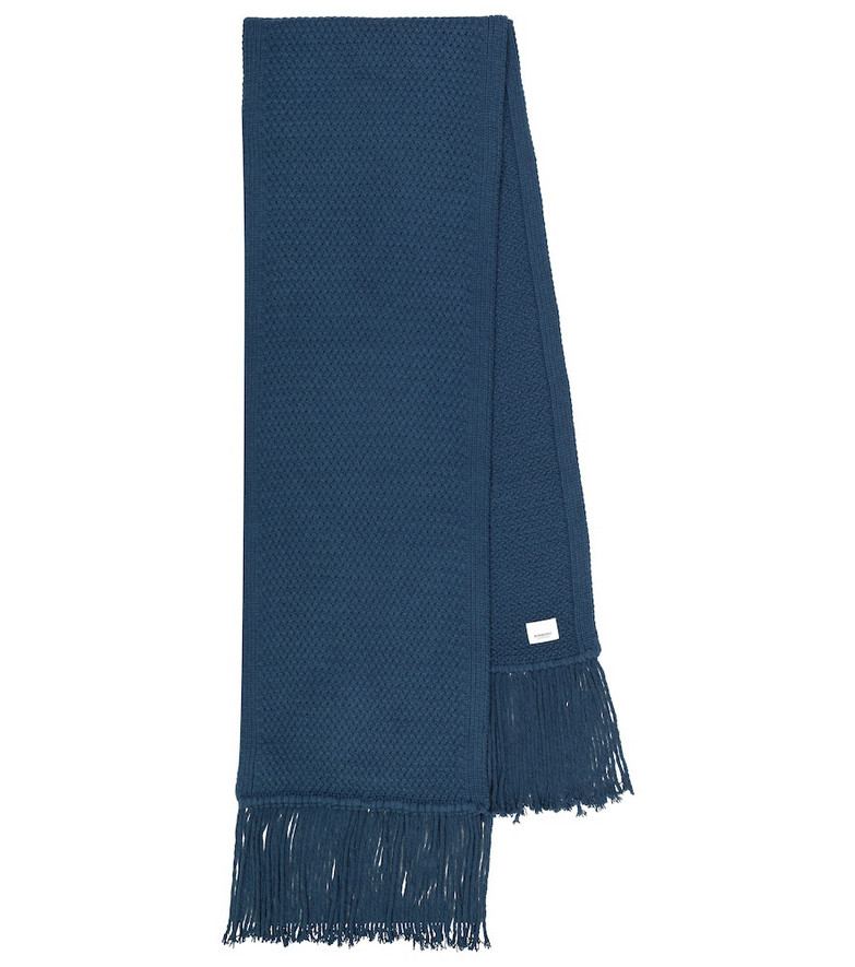 Burberry Exclusive to Mytheresa – Future Archive wool and cashmere scarf in blue