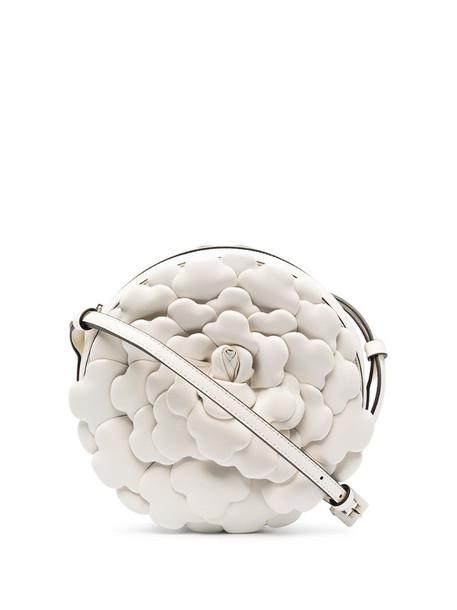 Valentino Garavani 03 Rose Edition Atelier round crossbody bag in white