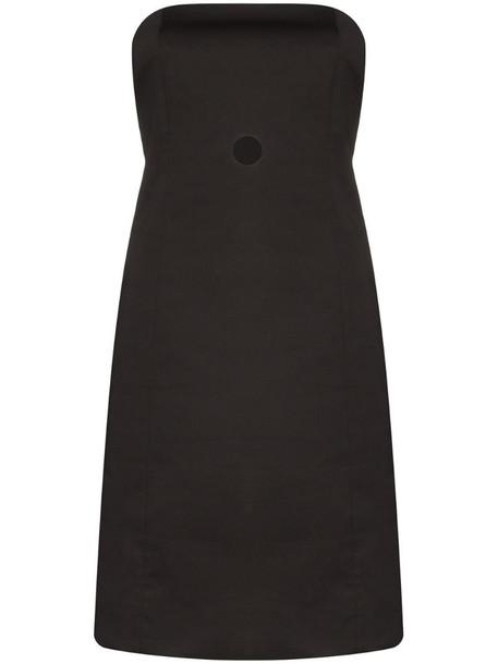 Coperni strapless cut-out bustier dress in black
