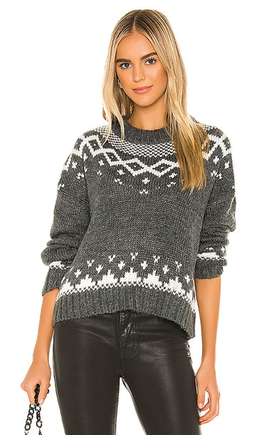 cupcakes and cashmere Jasmine Pullover in Gray