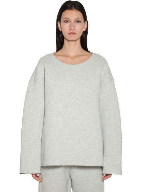 MM6 MAISON MARGIELA Oversized Cotton Jersey Sweatshirt in grey