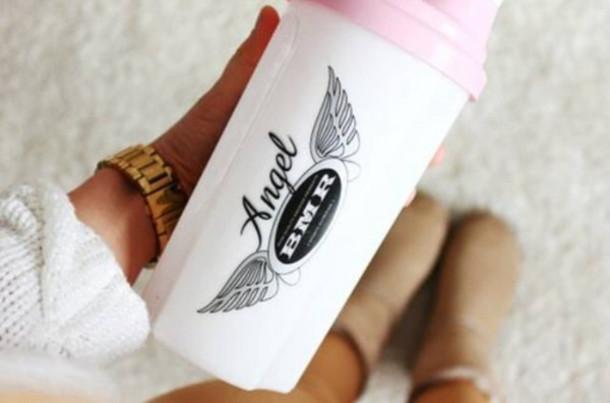 jewels angel bmr white pink light pink mug angel wings