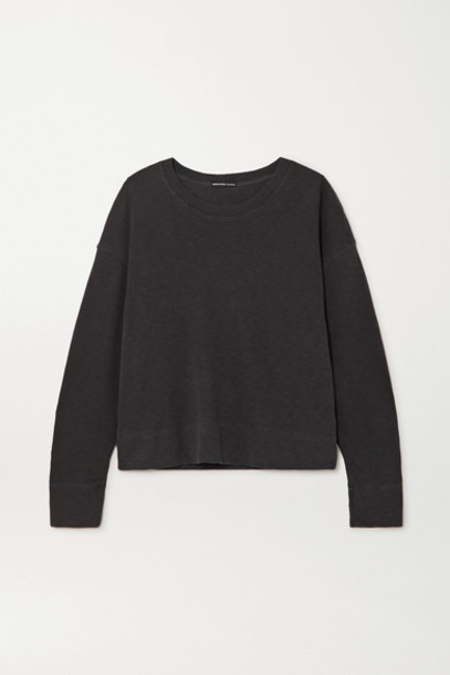 James Perse - Mélange Cotton-jersey Sweatshirt - Gray