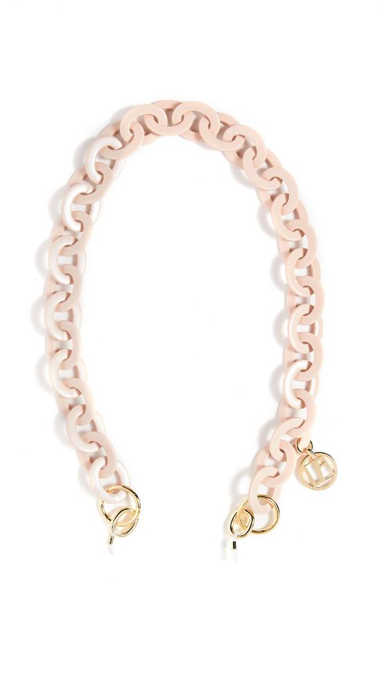 Linda Farrow Luxe Sunglasses Chain in pink