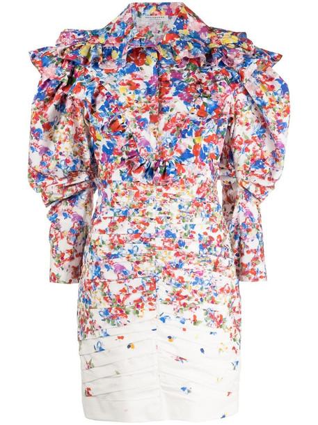 Philosophy Di Lorenzo Serafini all-over print dress in white