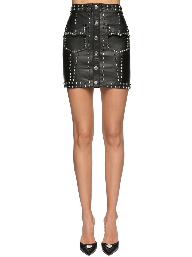 GIUSEPPE DI MORABITO Studded Leather Mini Skirt in black